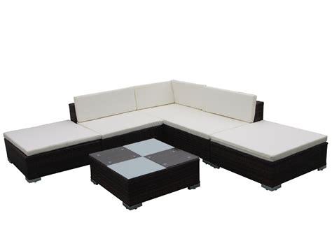 canapé résine tressée salon de jardin canapé résine tressée aluminium table basse