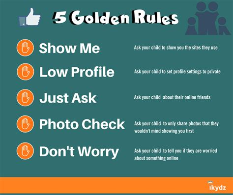 5 Golden Rules For Internet Safety  Ikydz, Online Safety, Parenting Wwwikydzcom
