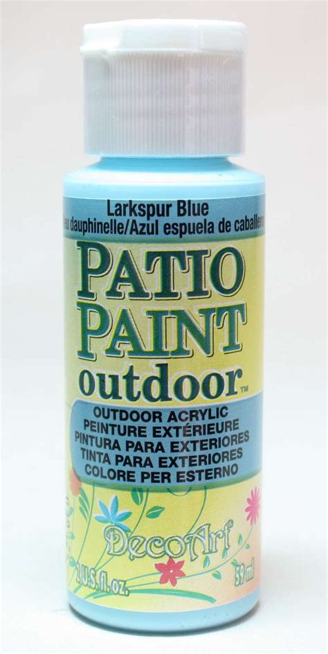 larkspur blue patio paint  oz painting crafts division