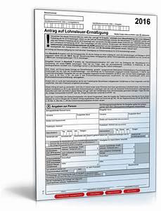 Lohnsteuer 2016 Berechnen : antrag auf lohnsteuererm igung 2016 formular zum download ~ Themetempest.com Abrechnung