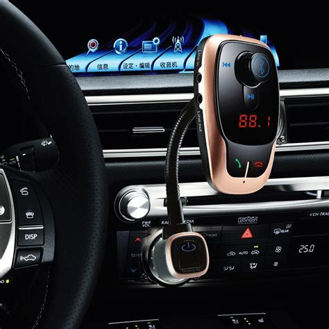 Bluetooth Car Kit Transmitter Music Adapter