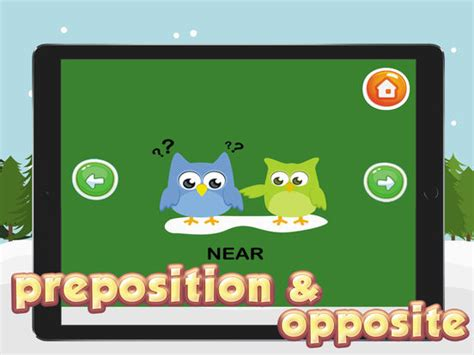 Preposition & Opposite Words Vocabulary For Kids On The