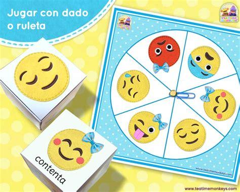 Juegos para días de lluvia. BINGO DE LAS EMOCIONES - ¡Un juego EDITABLE de dado o ruleta - con manualidad! - Tea Time Monkeys