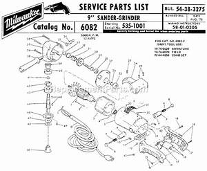 Milwaukee 6082 Parts List And Diagram