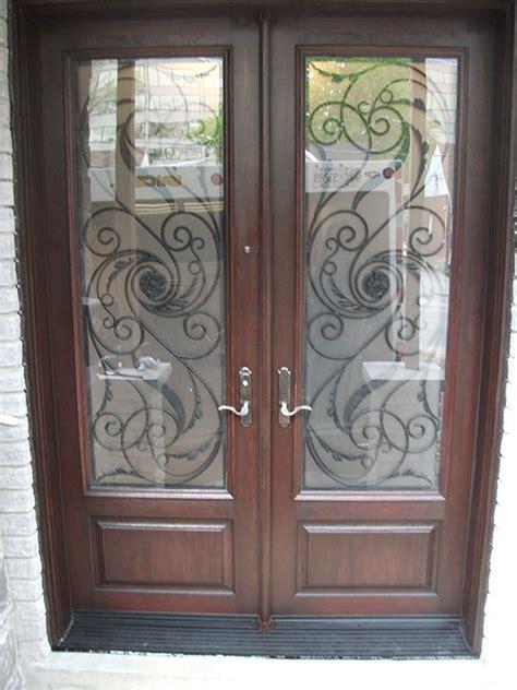wrought iron doors fiberglass front entry serafina design doors  multi point locks installed