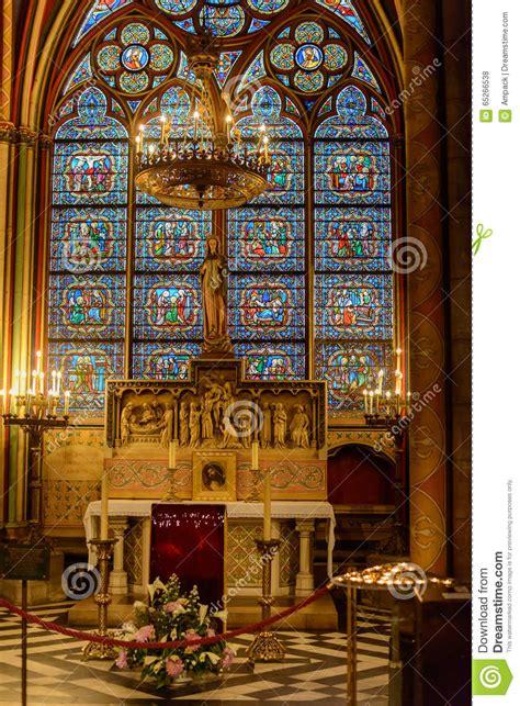 L Interno Della L Interno Della Cattedrale Di Notre Dame A Parigi A