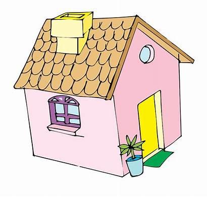 Clipart Cliparts Clip Houses Pink Tiny Transparent