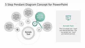 5 Step Pendant Diagram Concept For Powerpoint