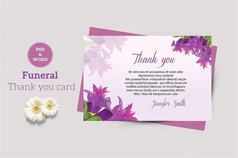 Printed or posted, all our cards are free, so what are you waiting for? Funeral Thank You Card Template Thank You Notes Funeral | Etsy | Funeral thank you cards, Thank ...