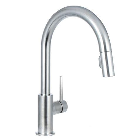 buy kitchen faucets delta trinsic single handle pull sprayer kitchen