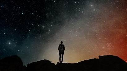Alone Sky Stars Night Space Galaxy Way