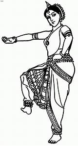 Indian Dance Folk Coloring India Dancing Bollywood Classical Odissi Clipart Cliparts Drawings Drawing Cartoon Dancer Chief Theme Traditional Tons Website sketch template
