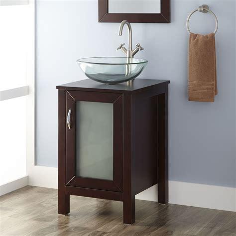 19 quot massey vanity cabinet with vessel sink