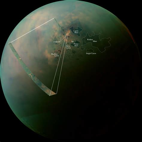 Titan S by New Cassini Images Of Titan S Hydrocarbon Seas And Lakes