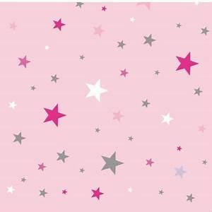 Papier peint sissi CIEL ETOILE ROSE Lili Pouce : stickers, appliques, frises, tapis