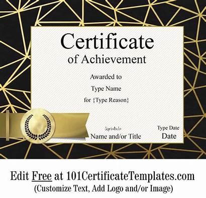 Certificate Achievement Customize Template Printable