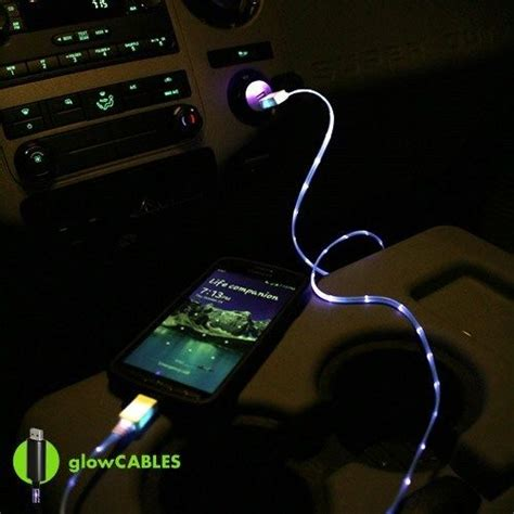 charger that lights up blue car charger micro usb cell phone smart fast led