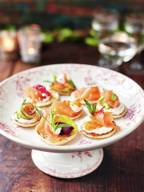 canape toppings food recipes oliver
