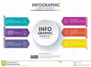 6 Steps Infographic  Timeline Design Template With 3d