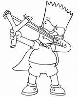 Coloring Bart Simpson Simpsons Printable Funny Slingshot Drawings Drawing Children Mermaid Magic Whitesbelfast sketch template