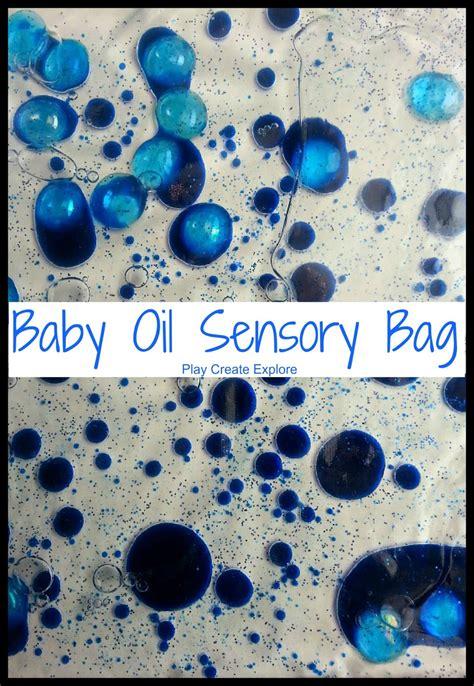 play create explore baby oil sensory bags
