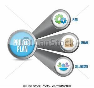 Clip Art Vector of project plan link connection concept ...