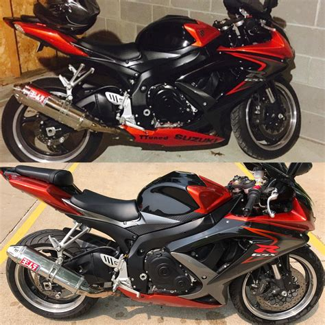 Armourfront / side / back. 08 gsxr 750 k8 before and after ebay fairing kit : GSXR