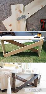 sofa table diy 25 sofa table tutorial thesofa With diy sectional sofa table