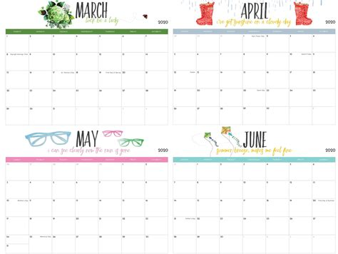 march  june  calendar  templates