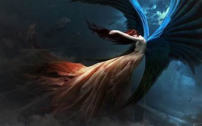 Angel Wings Fantasy Redhead Wallpapers 4k Backgrounds