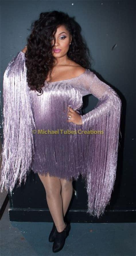 are you loving lola s fringe dress at davido s concert in bellanaija