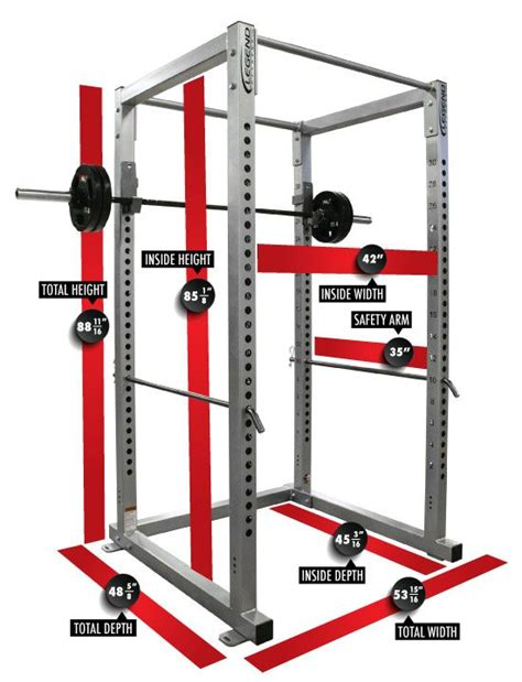rack gym power measurements dimensions equipment diy fitness weight lifting training crossfit workout basement room garage gimnasio outdoor performance ideal