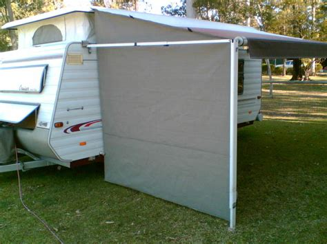 Shade Curtain/privacy Screen For Caravan R/out Awning End