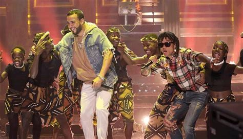 swae lee and french montana french montana swae lee perform unforgettable on jimmy