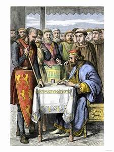 King John Forced to Sign the Magna Carta in England, 1215 ...