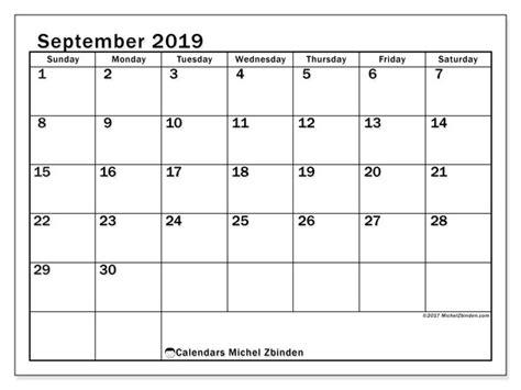 september calendar ss michel zbinden en