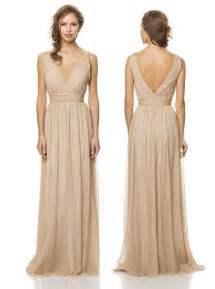 bridesmaid wedding dresses chagne chiffon bridesmaid dress vow day