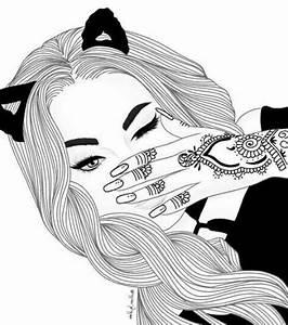 Fille Noir Et Blanc : style de dessin noir et blanc ~ Melissatoandfro.com Idées de Décoration