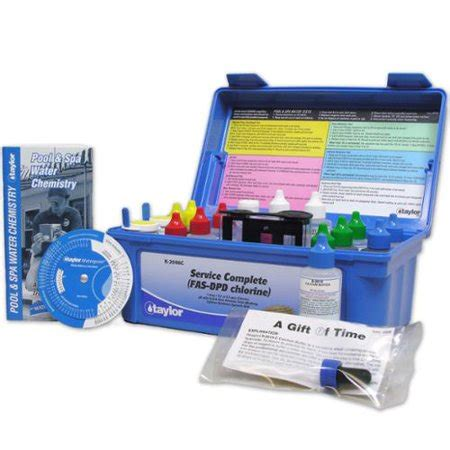taylor complete commercial fas dpd pool water test kit
