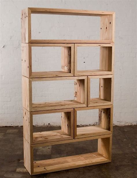 mark tuckey packing crate book shelves woodworking