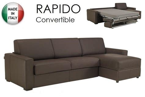 canapé convertible rapido cuir canape convertible d angle couchage quotidien 28 images