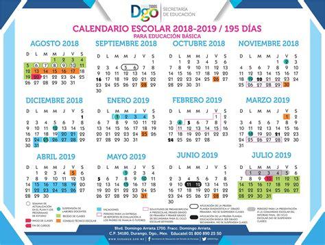 calendario escolar secretaria de educacion