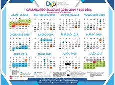 Calendario Escolar 20182019 Secretaría de Educación