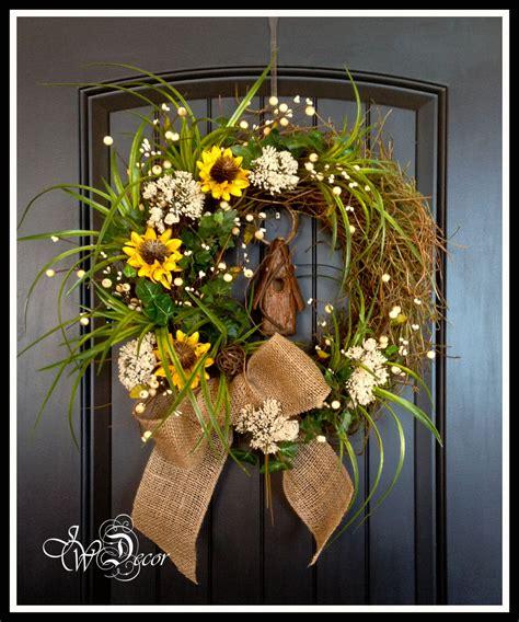 rustic wreaths summer wreaths sunflower rustic wreaths burlap wreath floral