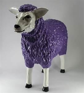 Große Tierfiguren Für Den Garten : gro es deko schaf xxl in lila f r den garten tierfiguren schafe und ziegen ~ Indierocktalk.com Haus und Dekorationen