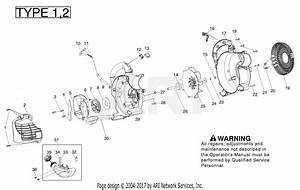 Poulan Ppb430vs Gas Blower Type 1 Parts Diagram For Housing Type 1 2