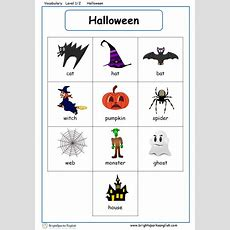 Halloween English Vocabulary Worksheet  English Treasure Trove