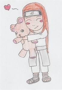 Chibi Neji hug teddy-bear by Soki-AE on deviantART