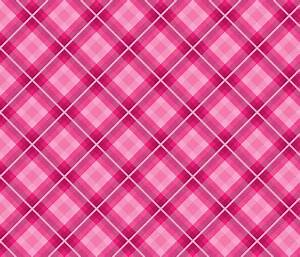 Hot pink plaid fabric - southpawmiller - Spoonflower