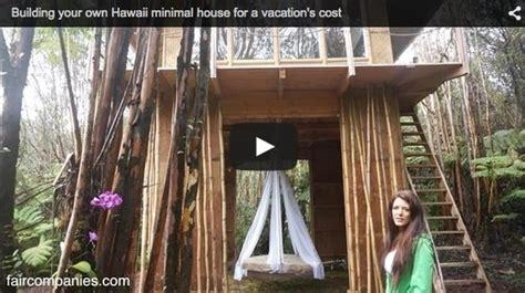 woman builds sf cabin  hawaii   months